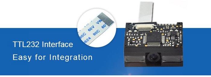 LV1000 1D Barcode Scanner Module