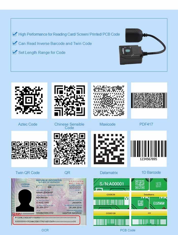 MRZ OCR Passport Barcode Scanner Module