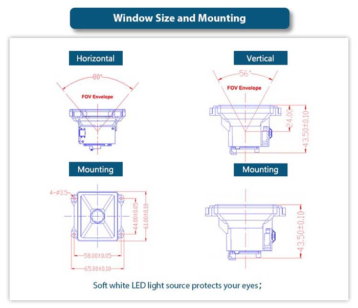 LV4200-PT 2D Barcode Scanner Module