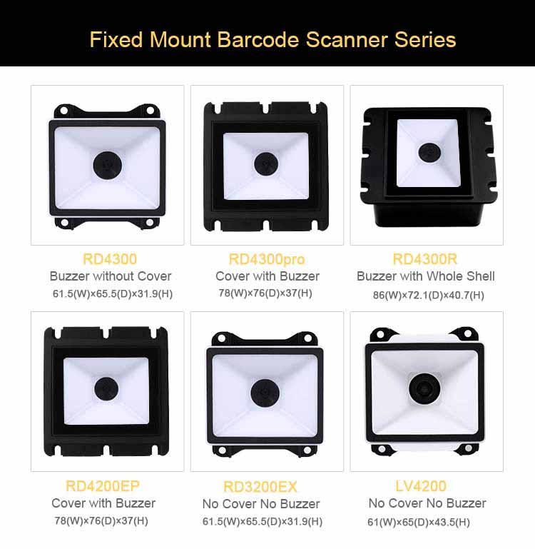 RD4300EP Fixed Mount QR Barcode Scanner