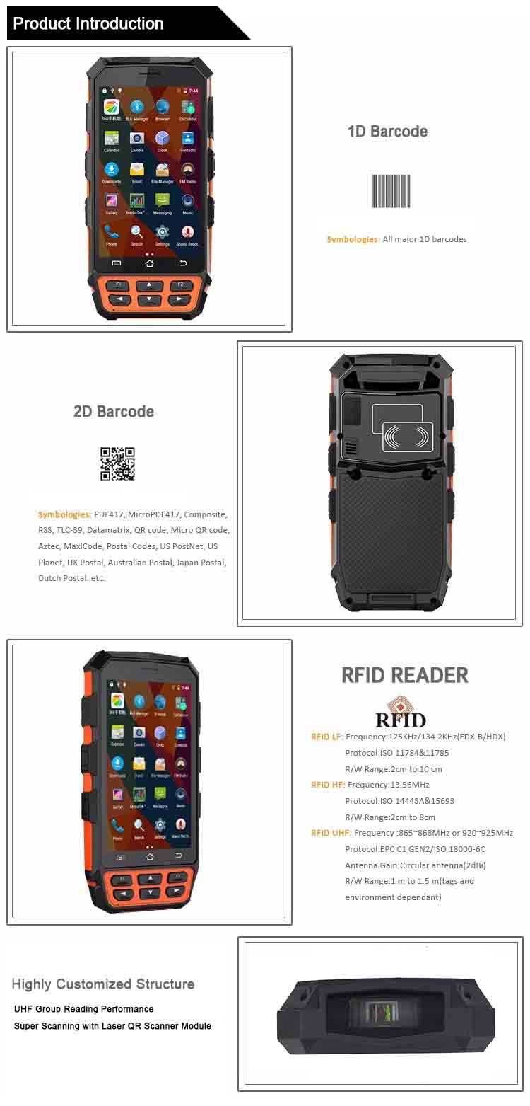 S3 PLUS Handheld Android PDA with UHF RFID Reader