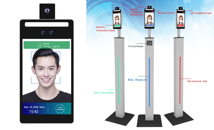 Rakinda temperature measurement face recognition terminal can also measure temperature by wearing a mask