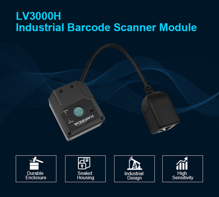 LV3000H Fixed Mount 2D Barcode Scanner