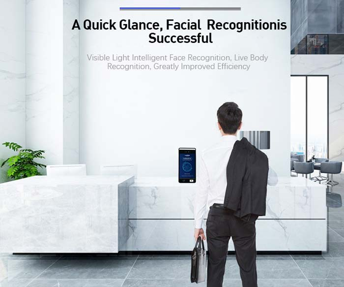 F5Pus Face Recognition IC Card and QR Code and Access Control Machine