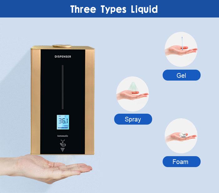 T86 Desktop Stainless Steel Hand Temperature Disinfection Dispenser