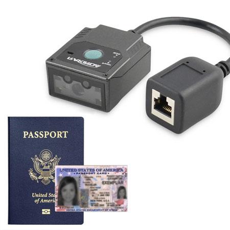LV3000U MRZ OCR Passport Barcode Scanner Module