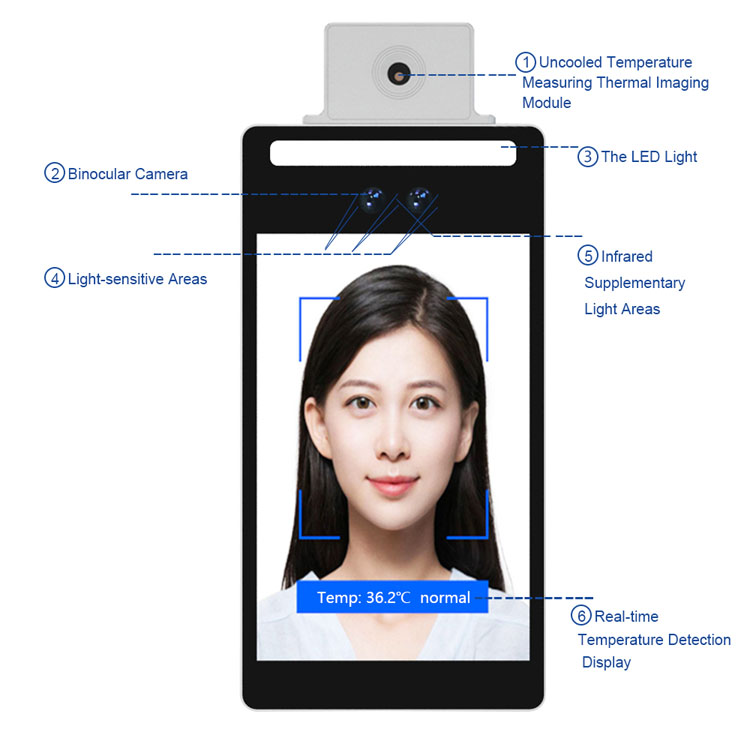 F3-FHS Biometric Access Control Face Recognition Attendance System with Card Reader and QR Code